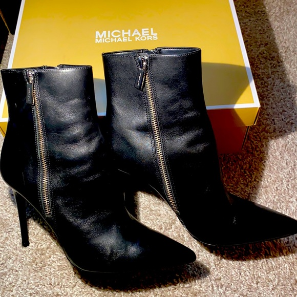 Michael Kors Keke Bootie Black Leather